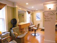 Our welcoming hair salon at 6 Muzzy Street Lexington, MA.